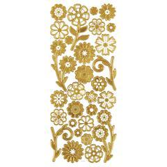 3-D Flowers Gold