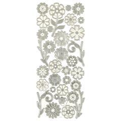 Dazzles 3-D Flowers Silver