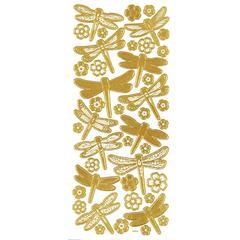 3-D Dragonflies Gold
