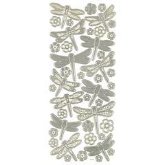 3-D Dragonflies Silver
