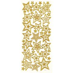 3-D Stars Gold