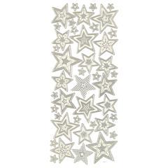 3-D Stars Silver