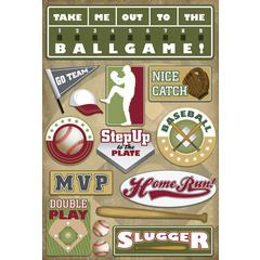 Karen Foster Design Cardstock Sticker Baseball Map