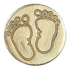 Manuscript Decorative Wax Sealing Coin Baby Feet