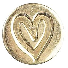 Manuscript Decorative Wax Sealing Coin Heart