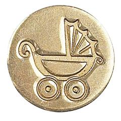 Manuscript Decorative Wax Sealing Coin Pram