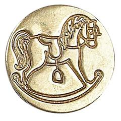 Manuscript Decorative Wax Sealing Coin Rocking Horse