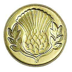 Manuscript Decorative Wax Sealing Coin Thistle