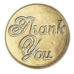 Manuscript Decorative Wax Sealing Coin Thank You