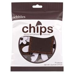 Pebbles Chips Embellishments Brown