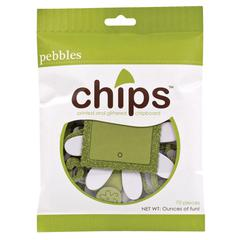 Pebbles Chips Embellishments Spring Green