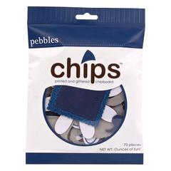 Pebbles Chips Embellishments Navy Blue