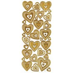 Dazzles 3-D Hearts Gold