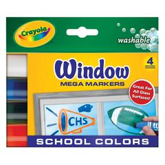 Crayola Washable Window Mega Marker School 4-Color Set
