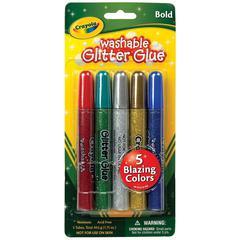 Crayola Washable Glitter Glue Bold 5-Color Set