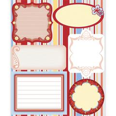Embossed Cardstock Stickers Red