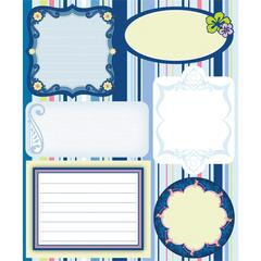 Embossed Cardstock Stickers Blue