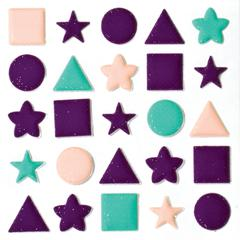 Blue Hills Studio ColorStories Puffy Mesh Stickers Purple