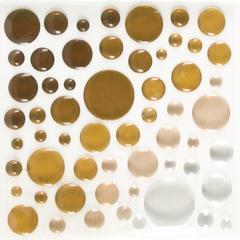 Epoxy Color Spots Stickers Brown