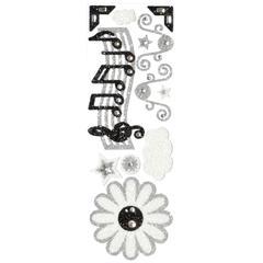 Blue Hills Studio ColorStories Glitter Bling Stickers Black & White