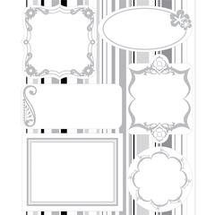 Embossed Cardstock Stickers White