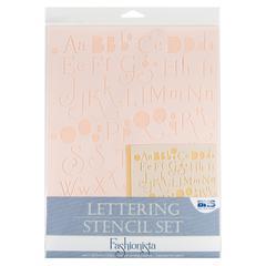 Blue Hills Studio Lettering Stencil Set Fashionista