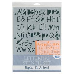 Lettering Stencil Set Back to School