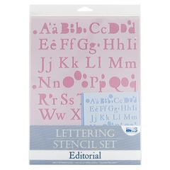 Lettering Stencil Set Editorial