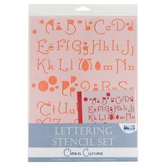 Blue Hills Studio Lettering Stencil Set Clean Curves