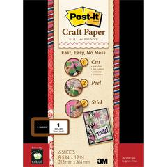 Full Adhesive Craft Paper Black