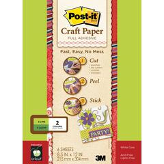 Full Adhesive Craft Paper Greens