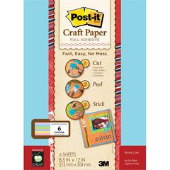 Full Adhesive Craft Paper Pastels
