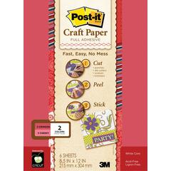 Post-It Full Adhesive Craft Paper Reds