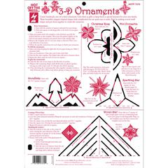 "Hot Off the Press 8.5"" x 12"" Papercrafting Template 3D Ornaments"