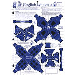 """Hot Off the Press 8.5"""" x 12"""" Papercrafting Template English Latterns"""