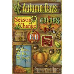 Cardstock Sticker Jump Into Fall