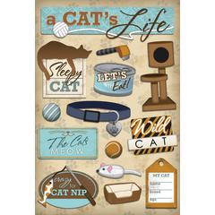 Cardstock Sticker A Cats Life