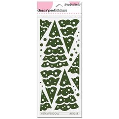 Stackable Trees Velvet Stickers Forest Green