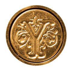 Manuscript Initial Ceramic Mini Seal Y