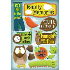 Cardstock Sticker Family Memories