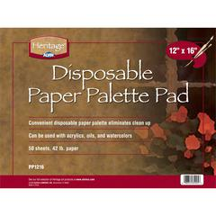 "Heritage Disposable Paper Palette Pad 12"" x 16"""