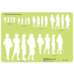 Female Human Figure Template