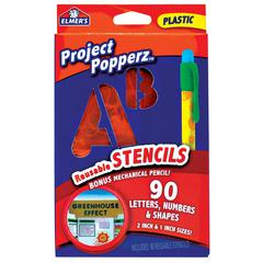 Elmer's Project Popperz Reusable Stencil Set