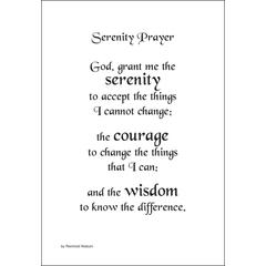 Serenity Prayer Stickers