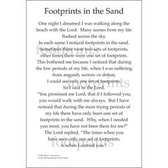 It Takes Two Poems For A Page Footprints in Sand Stickers