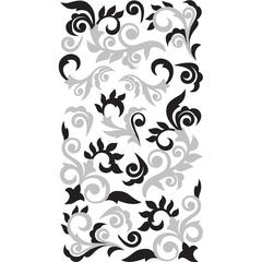 Sticko Classic Sticker Foil Silver Flourish