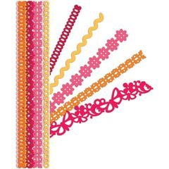 "Glitter & Cardstock Adhesive 12"" Borders Red"