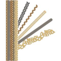 "K & Company Sheer Simplicity Foil & Cardstock Adhesive 12"" Borders Neutral"