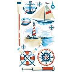 Classic Sticker Vellum/Glitter Nautical Icons