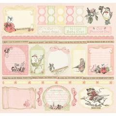 Creative Imaginations IOD 12 x 12 Lullaby Girl Cardstock Stickers